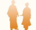 袴と着物のシルエットイラスト