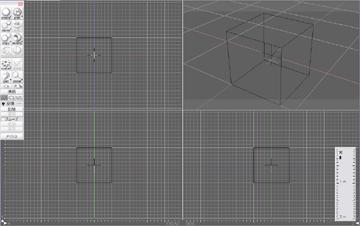 【実験設備図説: 四角い箱に点光源を詰めます。】