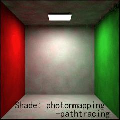 【Shade: photonmapping+pathtracing】