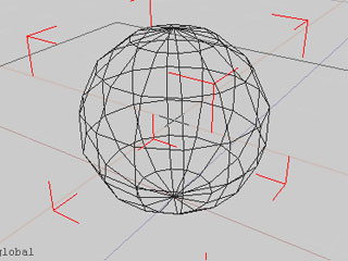 【SS: ワイヤフレームの球】