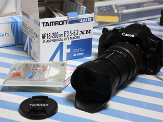Tamron AF18-200 F/3.5-6.3 XR Di II Canonキット