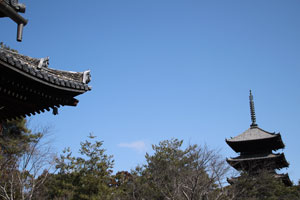 【写真: 五重塔と空@仁和寺】