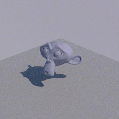 図 LuxBlendでレンダリング
