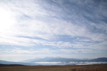 図 霧ヶ峰からの眺め 南アルプス方面