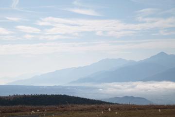 図 霧ヶ峰からの眺め 空気の厚みが見える