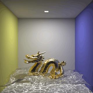 図 水面とドラゴン
