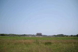 図 草原の上に建つ大極殿