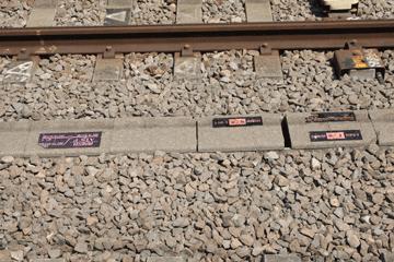 図 高尾駅のATS地上局のラベル